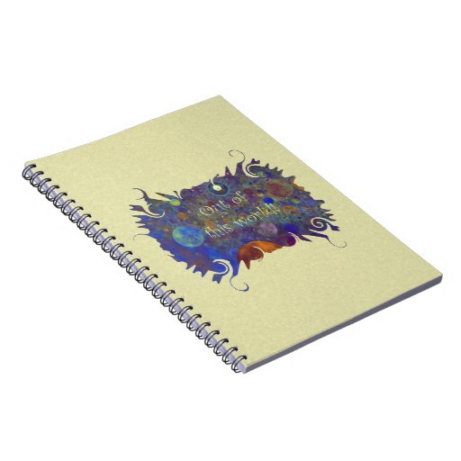 Alternate Universe Abstract Art Spiral Notebook