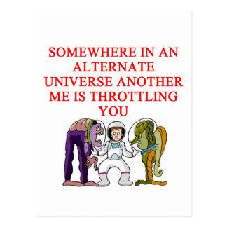 ALTERNATE universe joke Postcard