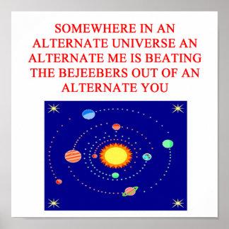 alternate universe phsics joke posters