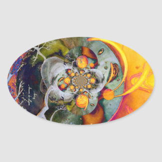 Alternate World 1 Oval Sticker