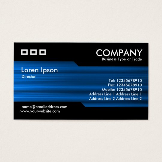 Alternating - Brushed Blue Texture Business Card