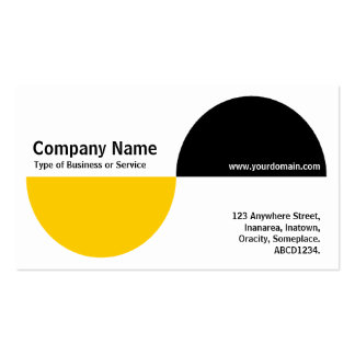 Alternating Crecents - Amber and Black Business Card