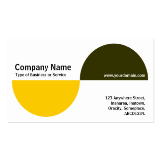 Alternating Crecents - Amber and Dark Olive Business Card