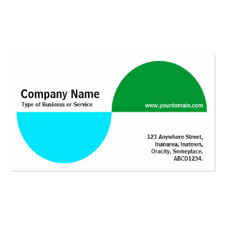 Alternating Crecents - Blue and Green Business Card