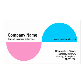 Alternating Crecents - Pink and Blue Business Card