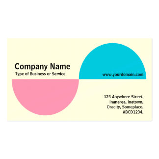 Alternating Crecents - Pink and Blue (Cream) Business Card