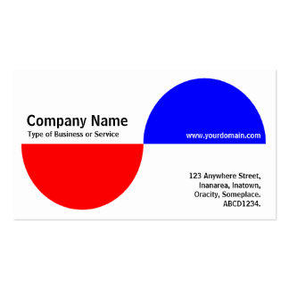 Alternating Crecents - Red and Blue Business Card