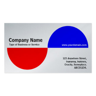 Alternating Crecents - Red and Blue (Platinum) Double-Sided Standard Business Cards (Pack Of 100)