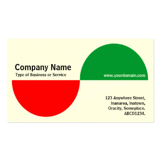 Alternating Crecents - Red and Green (Cream) Business Card