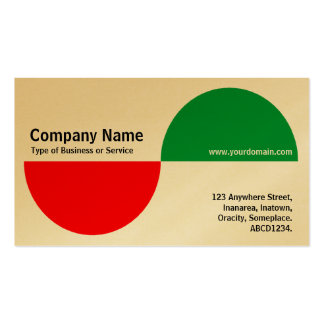 Alternating Crecents - Red and Green (Gold) Business Card