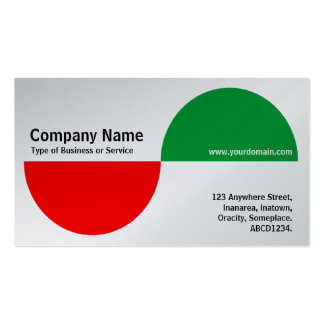 Alternating Crecents - Red and Green (Platinum) Business Card