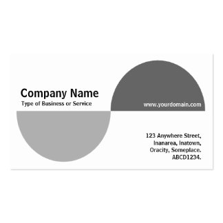 Alternating Crecents - Shades of Gray Business Card