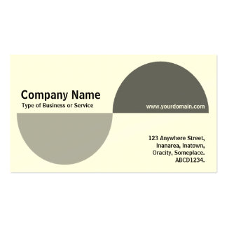 Alternating Crecents - Shades of Gray (Cream) Business Card