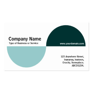 Alternating Crecents - Shades of Green Business Card