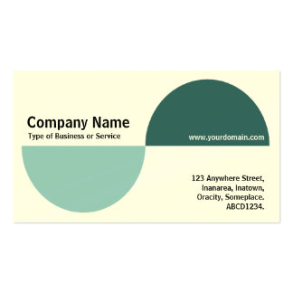 Alternating Crecents - Shades of Green (Cream) Business Card