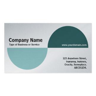 Alternating Crecents - Shades of Green (Platinum) Business Card