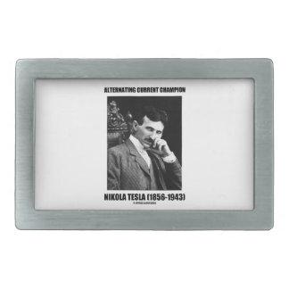 Alternating Current Champion Nikola Tesla Belt Buckle