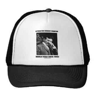 Alternating Current Champion Nikola Tesla Hats