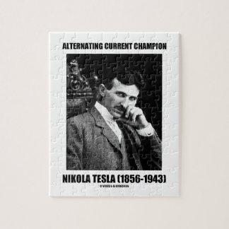 alternating current tesla. alternating current champion nikola tesla jigsaw puzzle