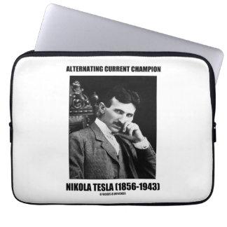 Alternating Current Champion Nikola Tesla Laptop Sleeve