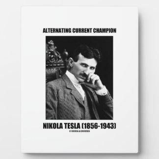 Alternating Current Champion Nikola Tesla Plaque