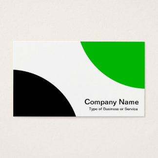Alternating Curves - Black and Medium Green Business Card