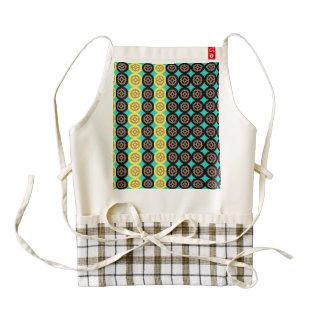 Alternating gearwheels pattern zazzle HEART apron