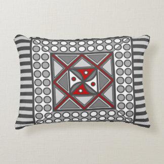 Alternating Geometric Accent Pillow