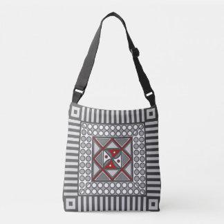 Alternating Geometric All-Over-Print Bag
