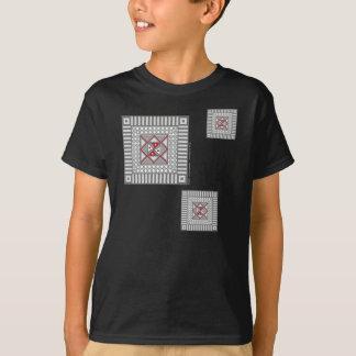 Alternating Geometric Kid's and Baby Dark Shirt