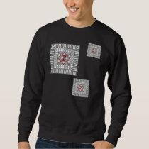 Alternating Geometric Men's Dark Shirt