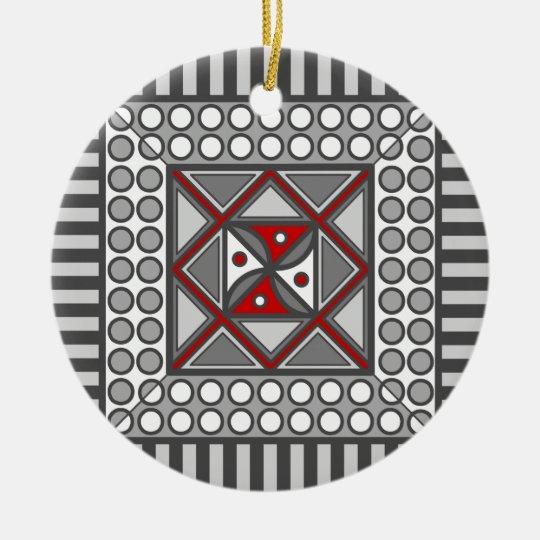 Alternating Geometric Ornament