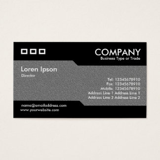 Alternating - Mid-Gray Embossed Texture Business Card
