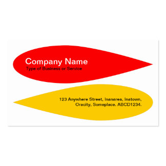 Alternating Petals - Red and Amber Double-Sided Standard Business Cards (Pack Of 100)