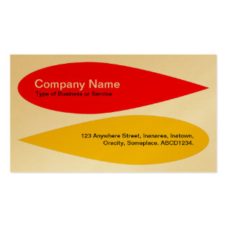 Alternating Petals - Red and Amber (Gold) Double-Sided Standard Business Cards (Pack Of 100)