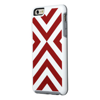 Alternating Red and White Chevrons OtterBox iPhone 6/6s Plus Case