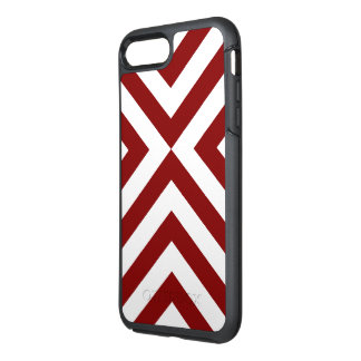 Alternating Red and White Chevrons OtterBox Symmetry iPhone 7 Plus Case