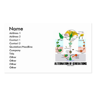 Alternation Of Generations (Flower Life Cycle) Double-Sided Standard Business Cards (Pack Of 100)