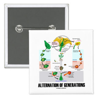 Alternation Of Generations (Flower Life Cycle) Button