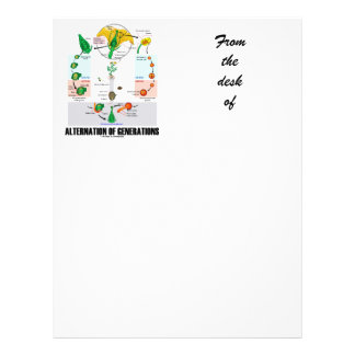 Alternation Of Generations (Flower Life Cycle) Letterhead Design