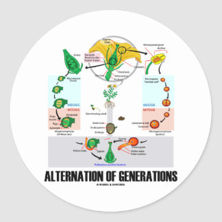 Alternation Of Generations (Flower Life Cycle) Sticker