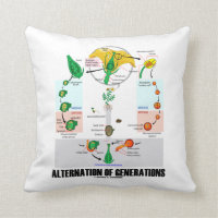 Alternation Of Generations (Flower Life Cycle) Throw Pillow