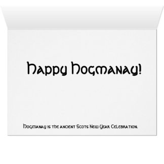 Alternativa al navidad--¡Hogmanay! Tarjeta De Felicitación
