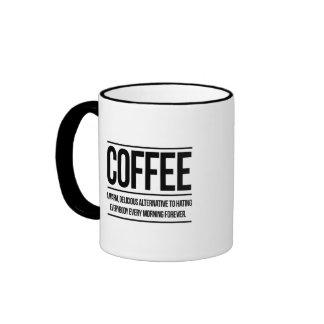 Alternativa del café taza a dos colores