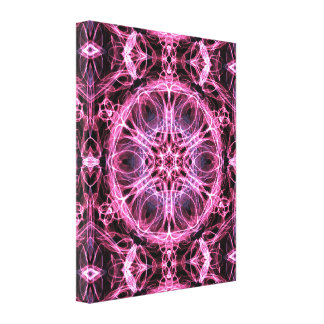 Alternative Abstract Pink and Blue Fractal Pattern Canvas Print