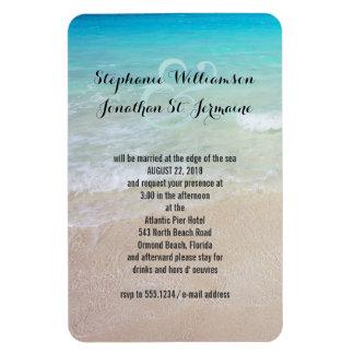 Alternative Beach Wedding Invitation Magnet