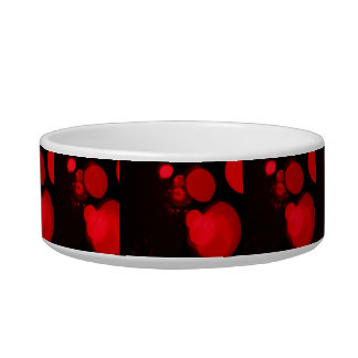 Alternative Christmas Lights Red Pet Food Bowls