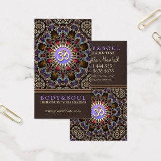 Alternative Eastern Yoga New Age Business Cards