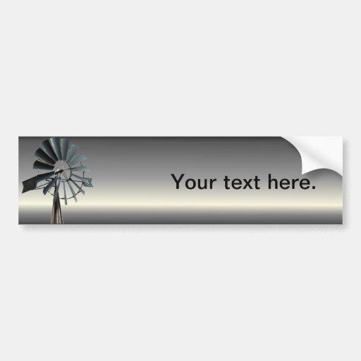 Alternative Energy - Pinwheel Windmill Power Bumper Sticker