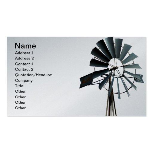Alternative Energy Pinwheel Windmill Power Business Card